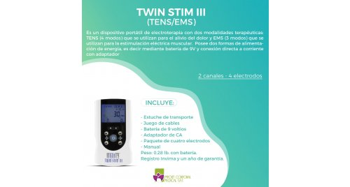 Electroestimulador  Intensity Twin Stim III Tens Ems